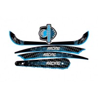 STICKERS SET COMPLET RACING BLUE