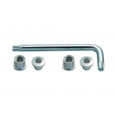 Suruburi foaie angrenaj + torx FSA CR Bolt Kit Argintiu Triplu MTB 12 buc