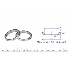 "Rulment cuvete FSA N.51 ACB 45x45 1""1/4 singleS MR136"