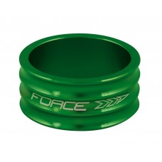 "Distantier furca Force 1.1/8"" 15 mm al. verde"