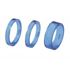 "BBB Distantier furca BHP-37 1-1/8"" 2x5mm 1x10mm albastru transparent"